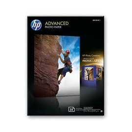 PAPEL FOTOGRAFICO HP ADVANCED 13X18 250 G (25h) Ref Q8696A